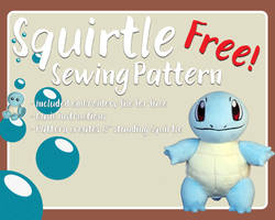 Squirtle - Free Sewing Pattern! by Fire-n-Fluff