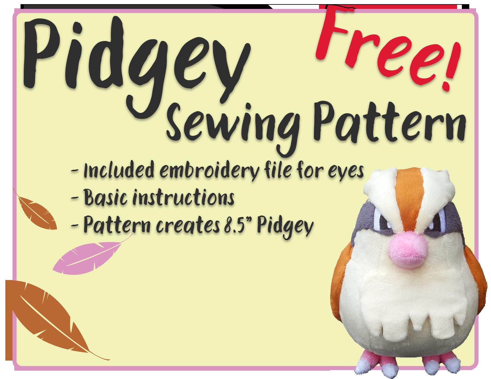 Pidgey - Free Sewing Pattern!