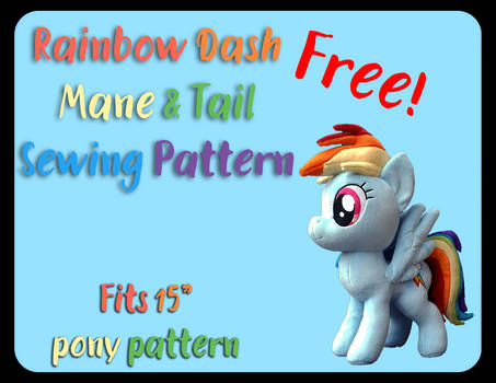 Rainbow Dash Mane and Tail Sewing Pattern