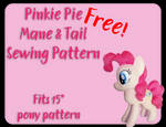Pinkie Pie Mane and Tail Sewing Pattern
