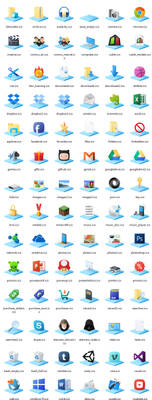 Windows10 Libraries Icons by SphaxCS