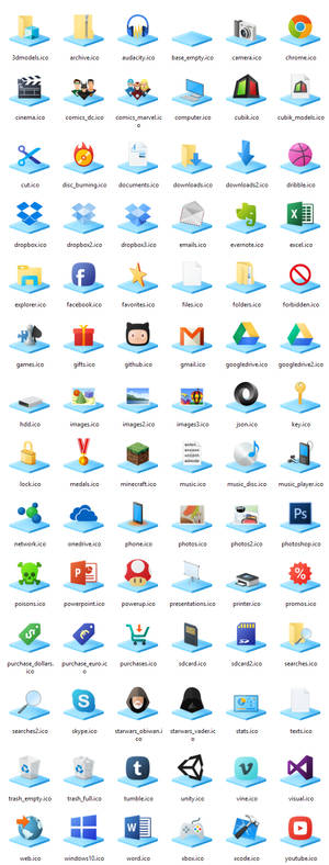 Windows10 Libraries Icons