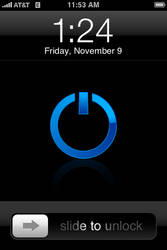 Simple Blue Power For iPhone
