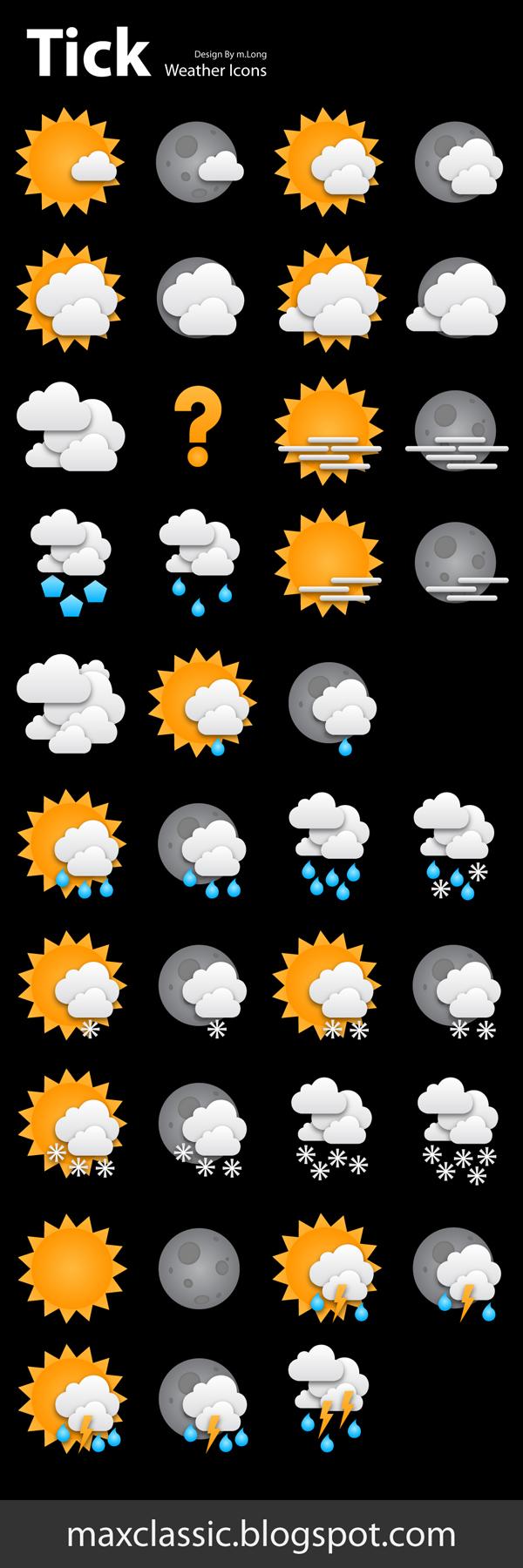 tick weather icons