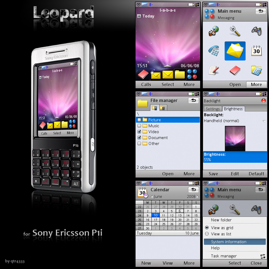 Leopard theme for P1i by QTR4333 on DeviantArt
