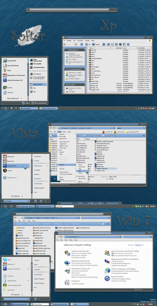 Softer for Xp, Vista, and Win7 by 2of3