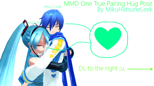 mmd] one true pairing hug posesnagimaeda on deviantart