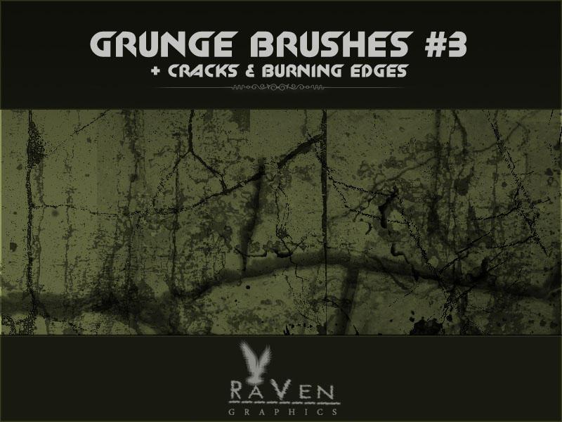 Grunge Brushes , Cracks by RavenGraphics