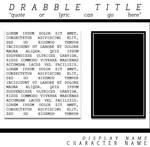 Stream-drabble