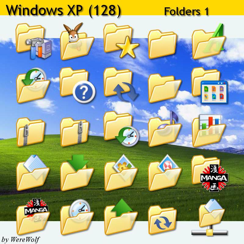 Windows XP Folders Pack 256 by werewolfdev on DeviantArt