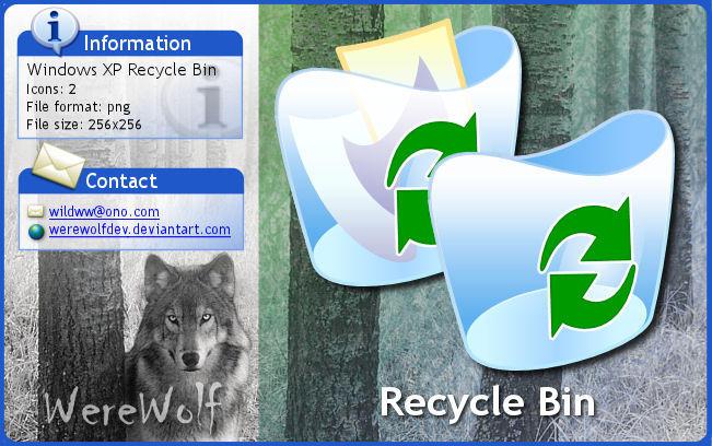 how to change recycle bin icon windows xp