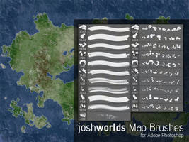 Map/Land Mass Brushes by JoshWorlds