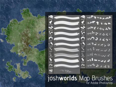 Map/Land Mass Brushes by JoshWorlds