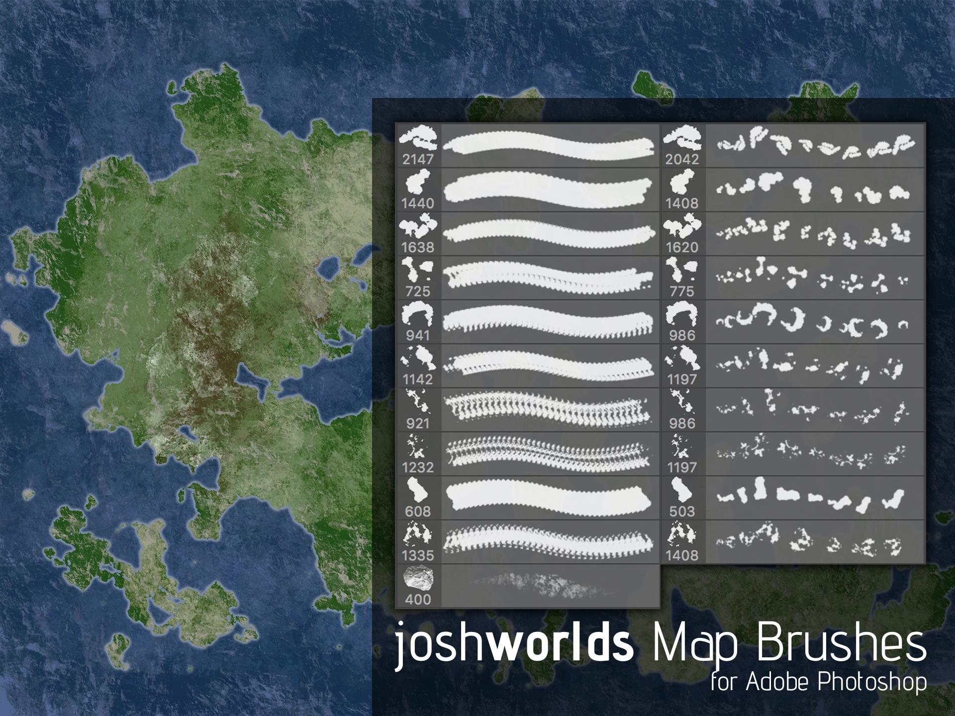 Map/Land Mass Brushes by JoshWorlds by JoshWorlds