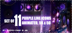 TVXQ Purple Line Icon Set by Kyomu-chan
