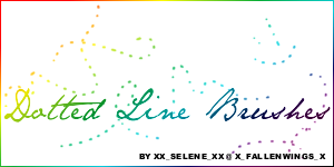 Dotted Line Brushes by x-xselenex-x