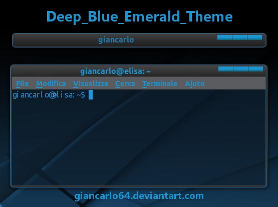 Deep Blue Emerald Theme by giancarlo64