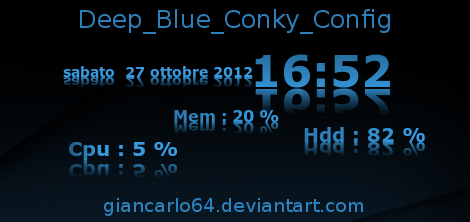 Deep Blue Conky by giancarlo64