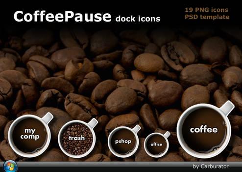 CoffeePause dock icons