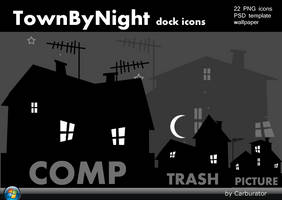 Town By Night dock icons