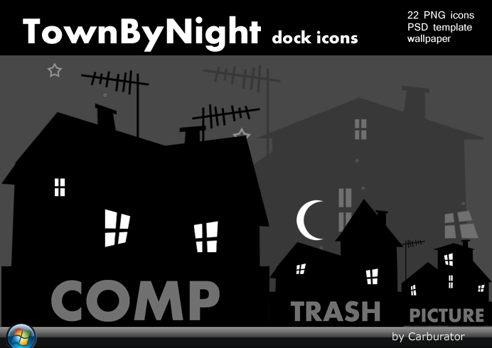 Town By Night dock icons by Carburator