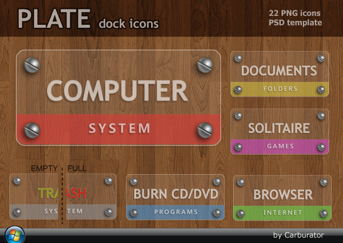 PLATE dock icons