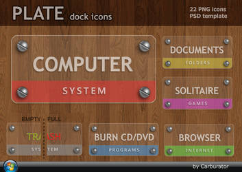 PLATE dock icons by Carburator