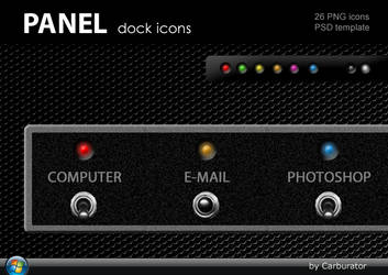PANEL dock icons by Carburator