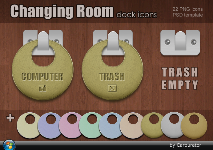 Changing room dock icons by Carburator