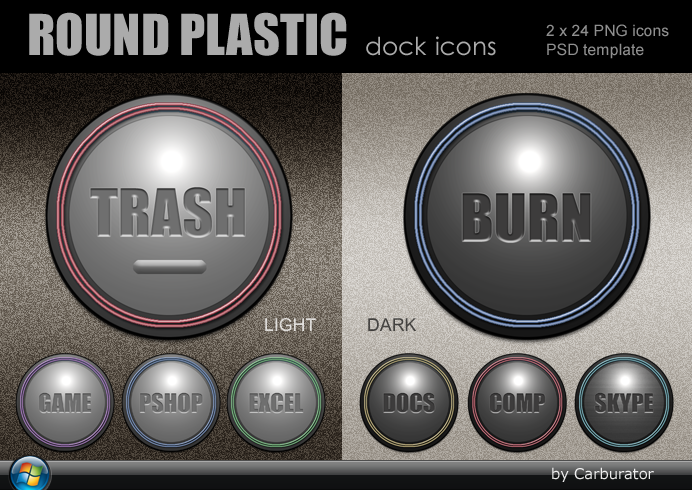 Round Plastic dock icons by Carburator