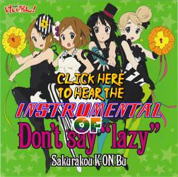 Don't Say Lazy Instrumental