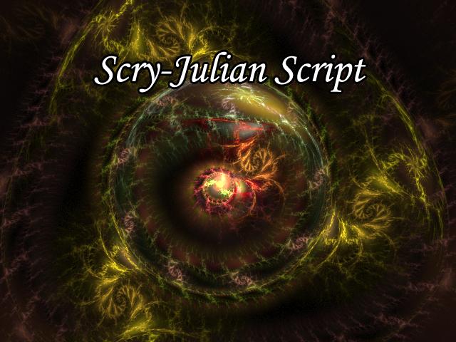 Scry-Julian Script by Fractal-Resources