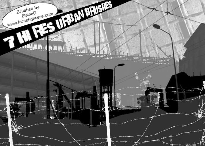 Urban Brushes 1 by ElaineG