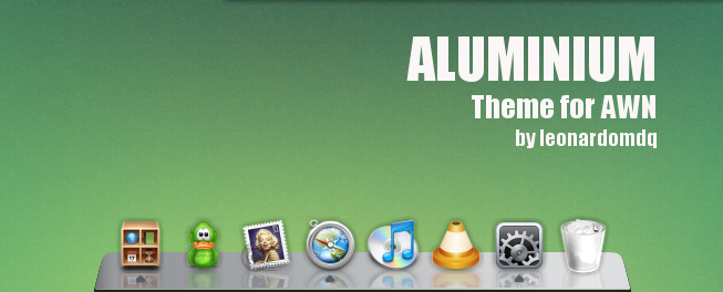 Aluminium Theme for AWN by leonardomdq