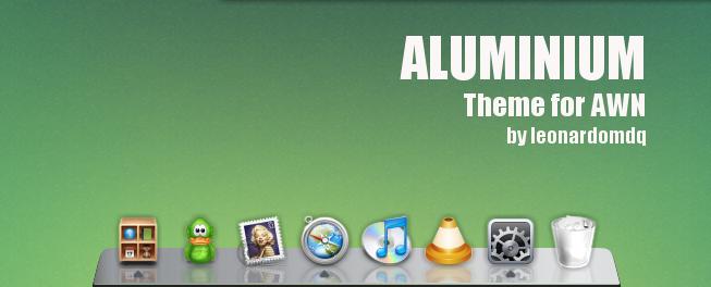 Aluminium Theme for AWN by leonardomdq