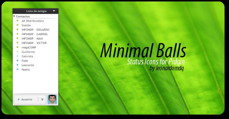 Minimal Balls Status Icons by leonardomdq