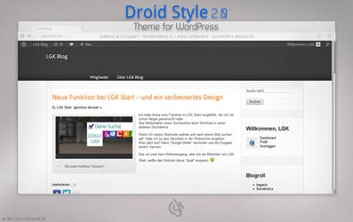 Droid Style 2.0 Theme for WordPress