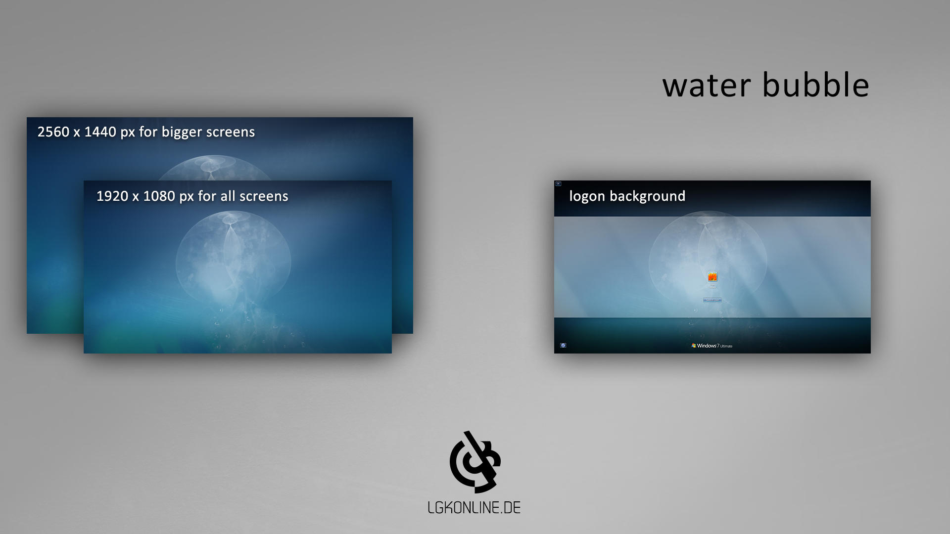 Water bubble - Wallpaper and logon background by lgkonline