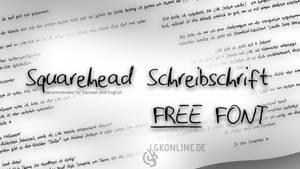 Squarehead Schreibschrift -- free handwritten font by lgkonline