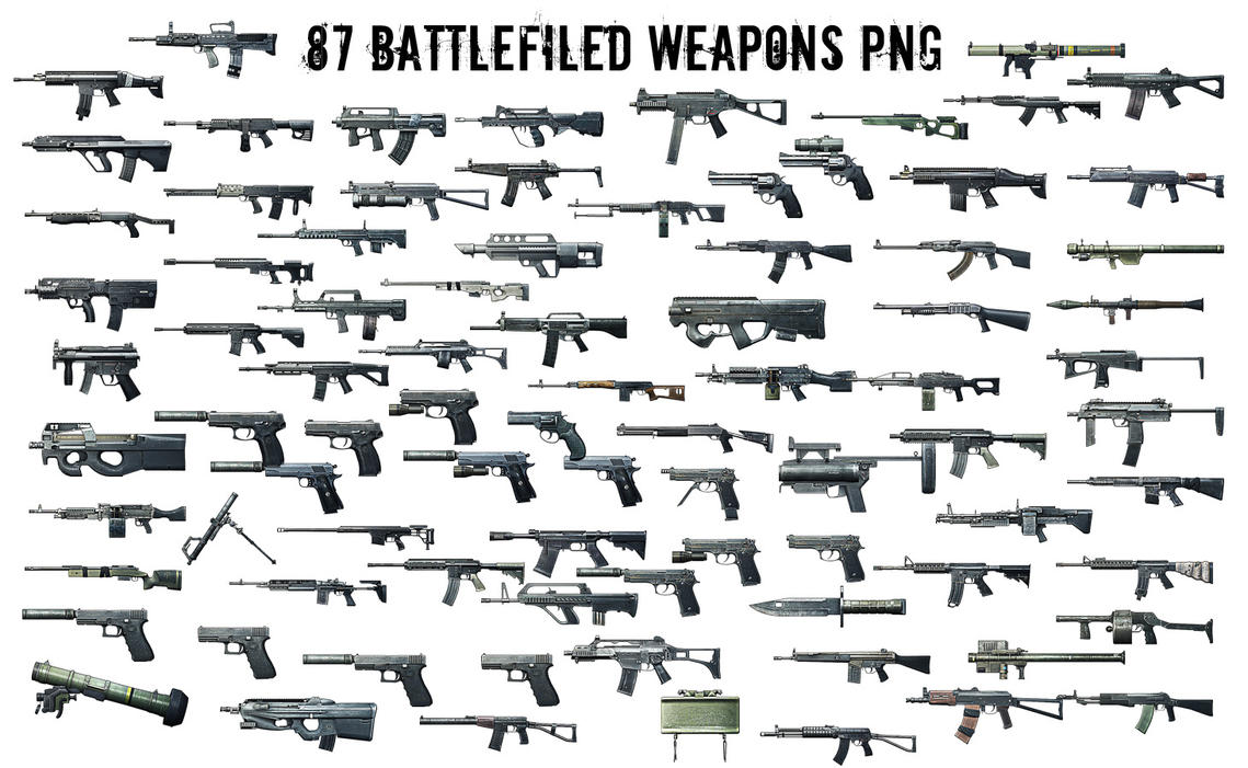 Battlefield 3 Weapons Render [PNG] by JonasForTheArt