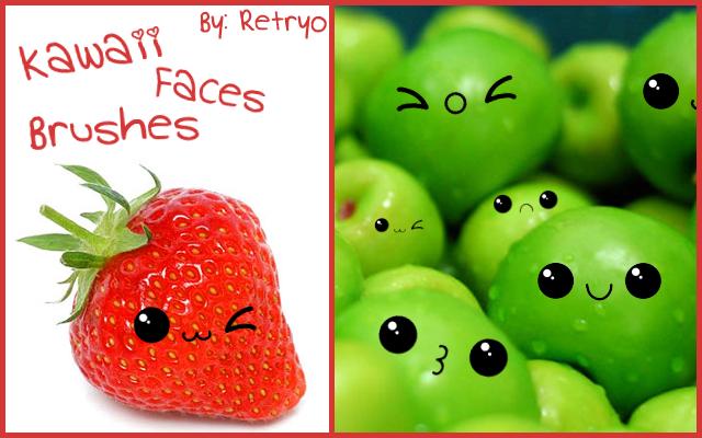 Kawaii Faces Brushes By Retryo