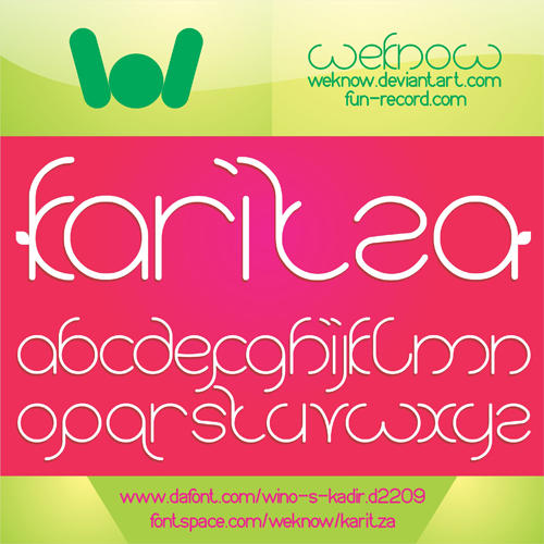 karitza font by weknow by weknow