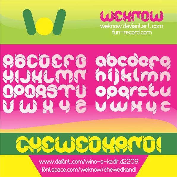chewedkandi font by weknow
