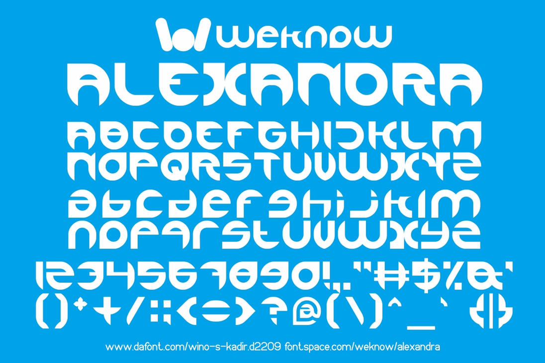 alexandra font by weknow by weknow