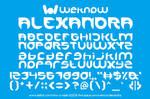 alexandra font by weknow by weknow
