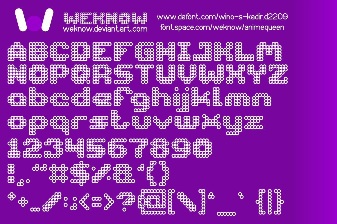 Anime queen font_by weknow by weknow