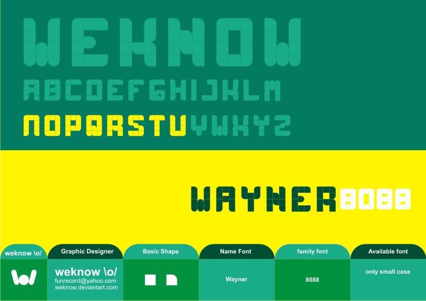 wayner8088_font_byweknow by weknow
