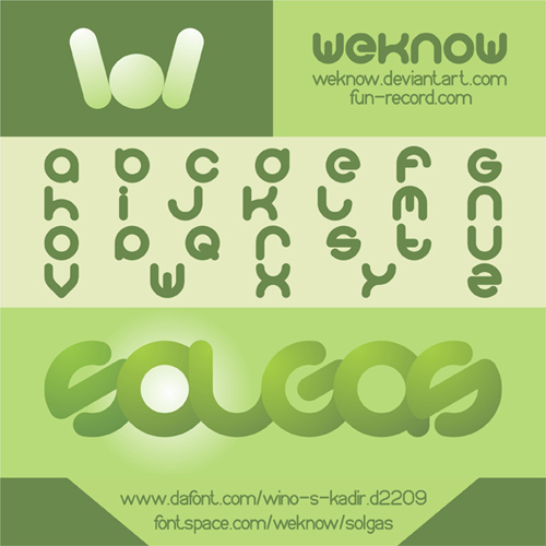 solgas font by weknow by weknow