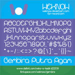 gembira font by weknow