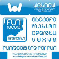 funrecord font by weknow by weknow